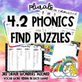 4.2 Phonics Find for Plurals (aligned to 3rd Grade Wonders 4.2)