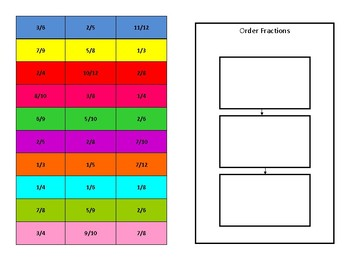4.2 TEI Ordering Fraction Cards