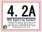 4.2A TEKS: Place Value Math Task Cards