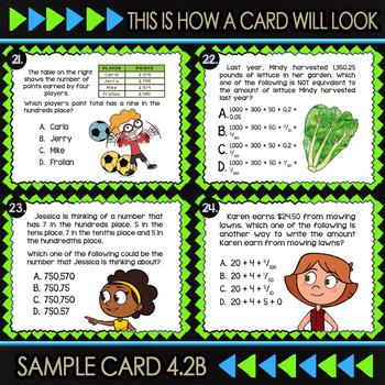 4.2B Math ★ EXPANDED NOTATION 4th Grade ★ Math TEK 4.2B ★ TEK-Aligned Task Cards