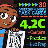 Math TEK 4.2C ★ Comparing & Ordering Numbers ★ 4th Grade Task Cards