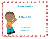 4.2B and 4.2H Decimal Forms and Number Lines