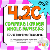 4.2C (DECK 2): Compare & Order Whole Numbers STAAR Test Pr