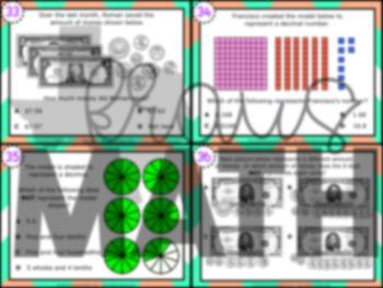 4.2E: Decimal Representations STAAR Test-Prep Task Cards (GRADE 4)