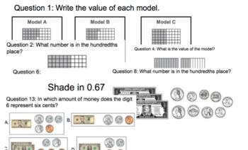 4.2E Represent Decimals using Visual Models Gallery Walk