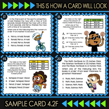 4.2F Comparing Decimals ★ 4th Grade Math TEKS 4.2F  ★ STAAR Test Prep Review