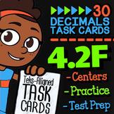 4.2F Math ★ COMPARING DECIMALS 4th Grade ★ Math TEK 42F ★ TEK-Aligned Task Cards