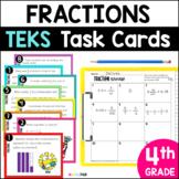 4.2G 4.3A 4.3B 4.3C 4.3D 4.3E 4.3F 4.3G    Fraction STAAR PREP Task Cards