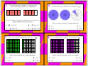 4.2G (DECK 2): Decimal & Fraction Equivalency STAAR Test Prep Task Cards!