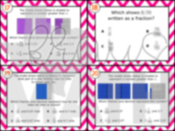 4.2G: Decimal & Fraction Equivalency STAAR Test-Prep Task Cards (GRADE 4)
