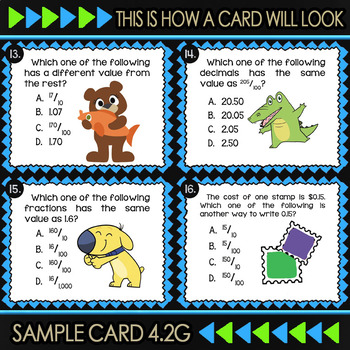 4.2G Decimals to Fractions ★ 4th Grade Math TEKS 4.2G  ★ STAAR Math Practice