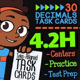 Math TEK 4.2H ★ Decimals on a Number Line ★ 4th Grade Task Cards