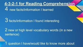 4-3-2-1 Nonfiction Reading Response