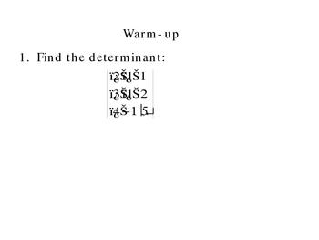 4-3  Determinants (Part 2)