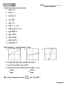 4-3 Inverse Functions