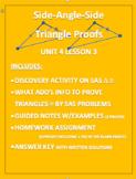 Side Angle Side Triangle Proofs WORD