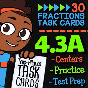4.3A Math ★ COMPOSING FRACTIONS ★ Math TEK 4.3A ★ TEKS-Aligned Task Cards