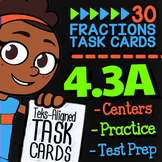 Math TEK 4.3A ★ Composing Fractions ★ 4th Grade Task Cards
