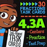 Math TEK 4.3A ★ Composing Fractions ★ 4th Grade STAAR Math Test Prep Task Cards