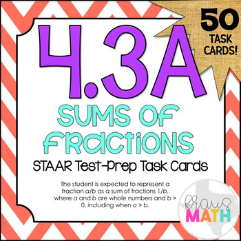 4.3A: Fractions in Expanded Form STAAR Test-Prep Task Card