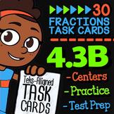 Math TEK 4.3B ★ Decomposing Fractions ★ 4th Grade Math STAAR Review Task Cards