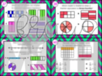 4.3C: Equivalent Fractions STAAR Test-Prep Task Cards (GRADE 4)