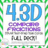 4.3D: Compare Fractions STAAR Test-Prep Task Cards (GRADE 4)