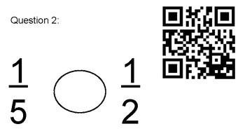 4.3D Comparing Fractions QR Task Cards