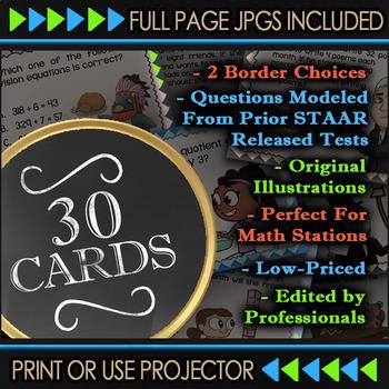 4.3D Math ★ COMPARING FRACTIONS 4th Grade ★ Math TEK 4.3D ★ TEKS Task Cards
