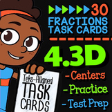 Math TEK 4.3D ★ Comparing Fractions ★ 4th Grade Task Cards