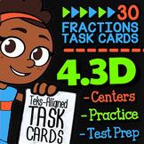 Math TEK 4.3D ★ Comparing Fractions ★ 4th Grade STAAR Math Review Task Cards