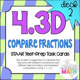 4.3D (DECK 2): Compare Fractions STAAR Test Prep Task Cards! (Grade 4)