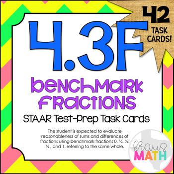 4.3F: Estimate Using Benchmark Fractions STAAR Test-Prep Task Cards (GRADE 4)