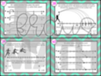4.3G: Fractions & Decimals On Number Lines STAAR Test-Prep Task Cards (4.NF.6)