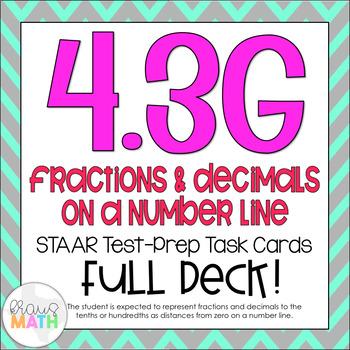 4.3G: Fractions & Decimals On Number Lines STAAR Test-Prep
