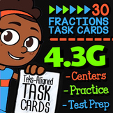Math TEK 4.3G ★ Fractions & Decimals on Number Lines ★ 4th Grade Task Cards
