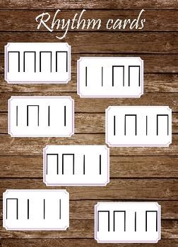 4/4 Rhythm Cards