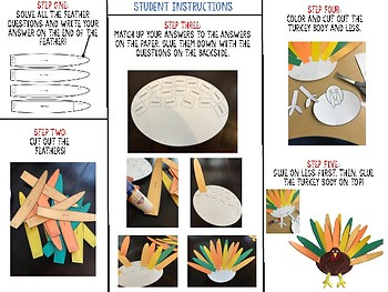 4.4A Addition/Subtraction with Decimals Cut and Paste Turkey Activity