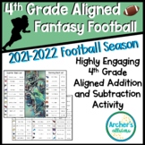 4.4A Aligned Fantasy Football Addition Subtraction Math Station Activity