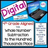 4.4A Whole Number Subtraction Up to Hundred Thousands Digital Station