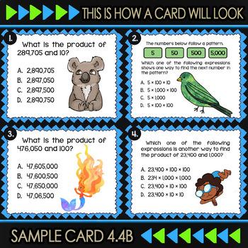 4.4B Math ★ MULTIPLYING by 10 & 100 ★ Math TEK 4.4B ★ TEKS-Aligned Task Cards