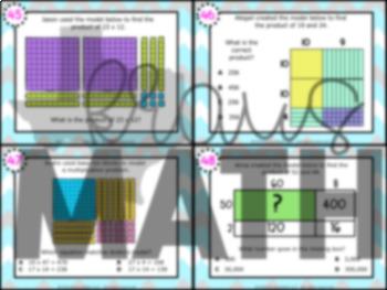4.4C: Multiplication: Models & Equations STAAR Test-Prep Task Cards (GRADE 4)