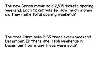 4.4D Multiplication Estimation and Word Problem Practice