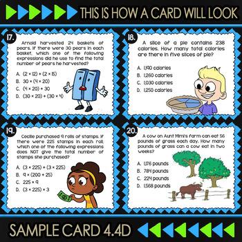 Math TEK 4.4D ★ Multi-Digit Multiplication Task Cards ★ 4th Grade