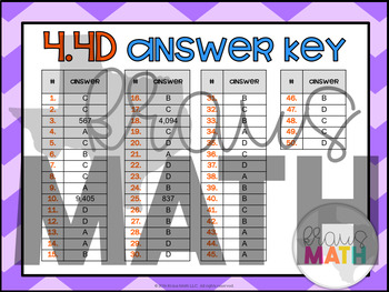 4.4D: Multiplying by 1-Digit Numbers STAAR Test-Prep Task Cards (4.NBT.5)