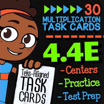 Math TEK 4.4E ★ Area Model Division & Arrays ★ 4th Grade Task Cards