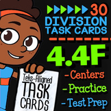 Math TEK 4.4F ★ Dividing Whole Numbers ★ 4th Grade Task Cards