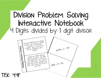 4.4F Division Problem Solving Interactive Notebook
