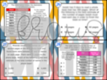 4.4G: Rounding to Estimate STAAR Test-Prep Task Cards (GRADE 4)