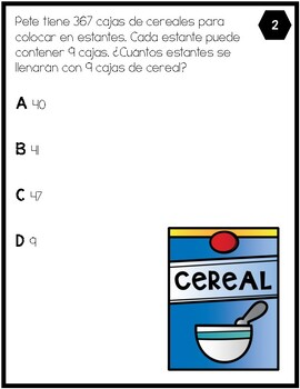 4.4H - Interpreting Remainders Only - SPANISH ONLY